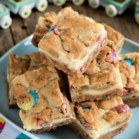 Robin's Egg Cheesecake Cookie Bars
