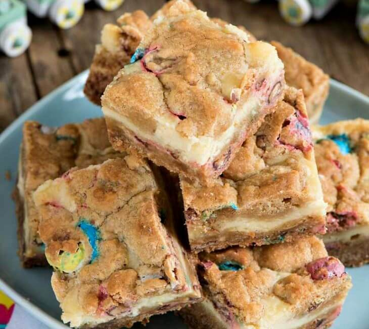 Robin Egg Cheesecake Cookie Bars