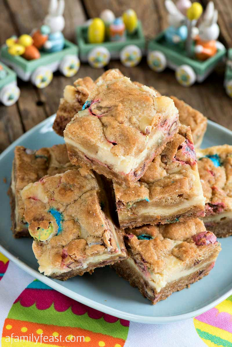 cookie bars with easter candy