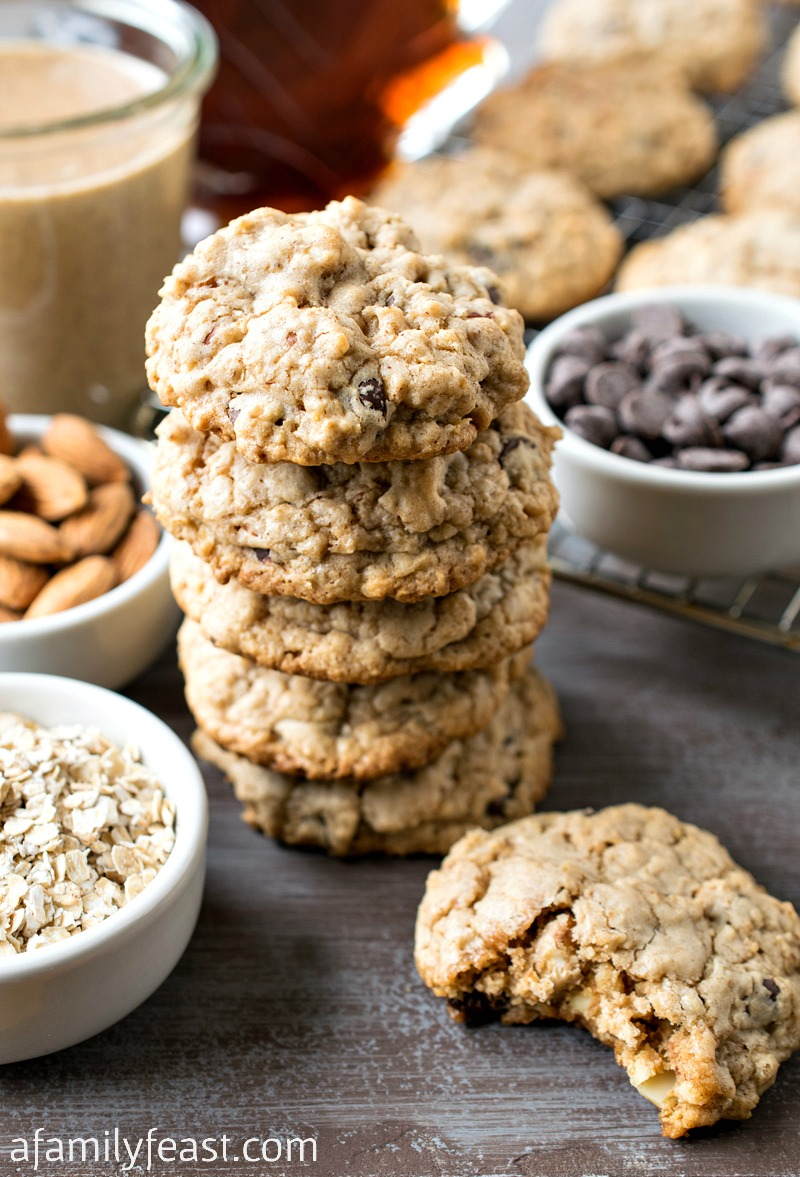 Almond Butter Oatmeal Chocolate Chip Cookies