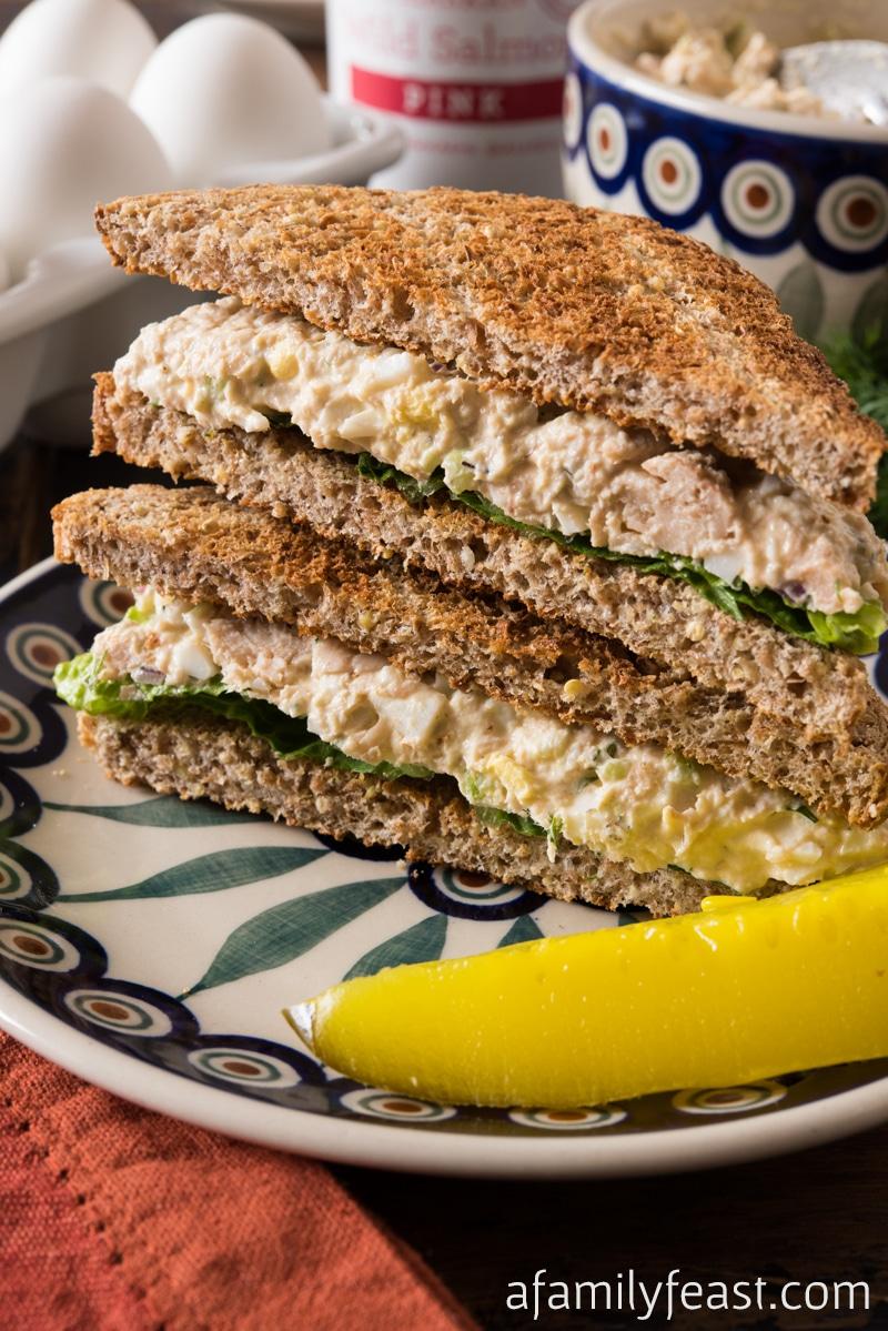 Salmon Egg Salad - A Family Feast