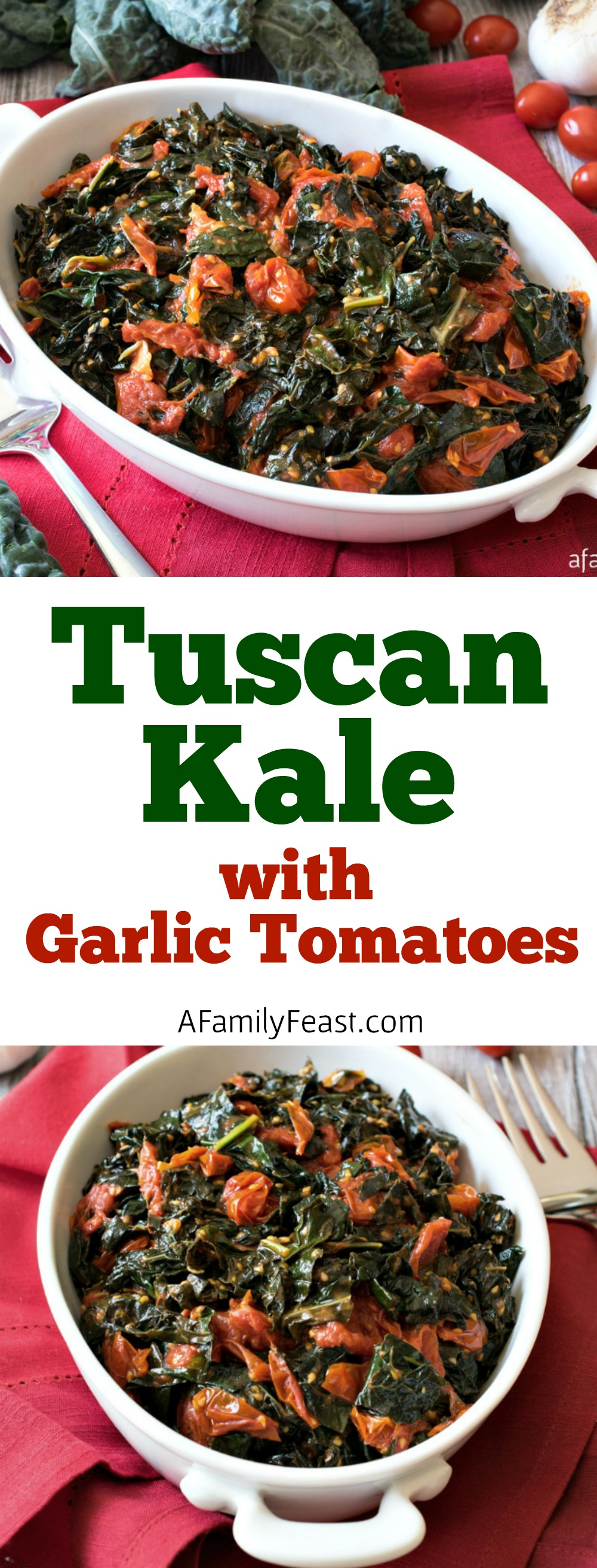 Tuscan Kale with Garlic Tomatoes