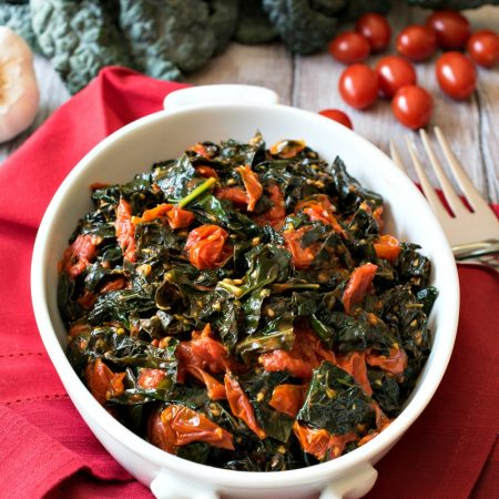 Tuscan Kale with Garlic Tomatoes