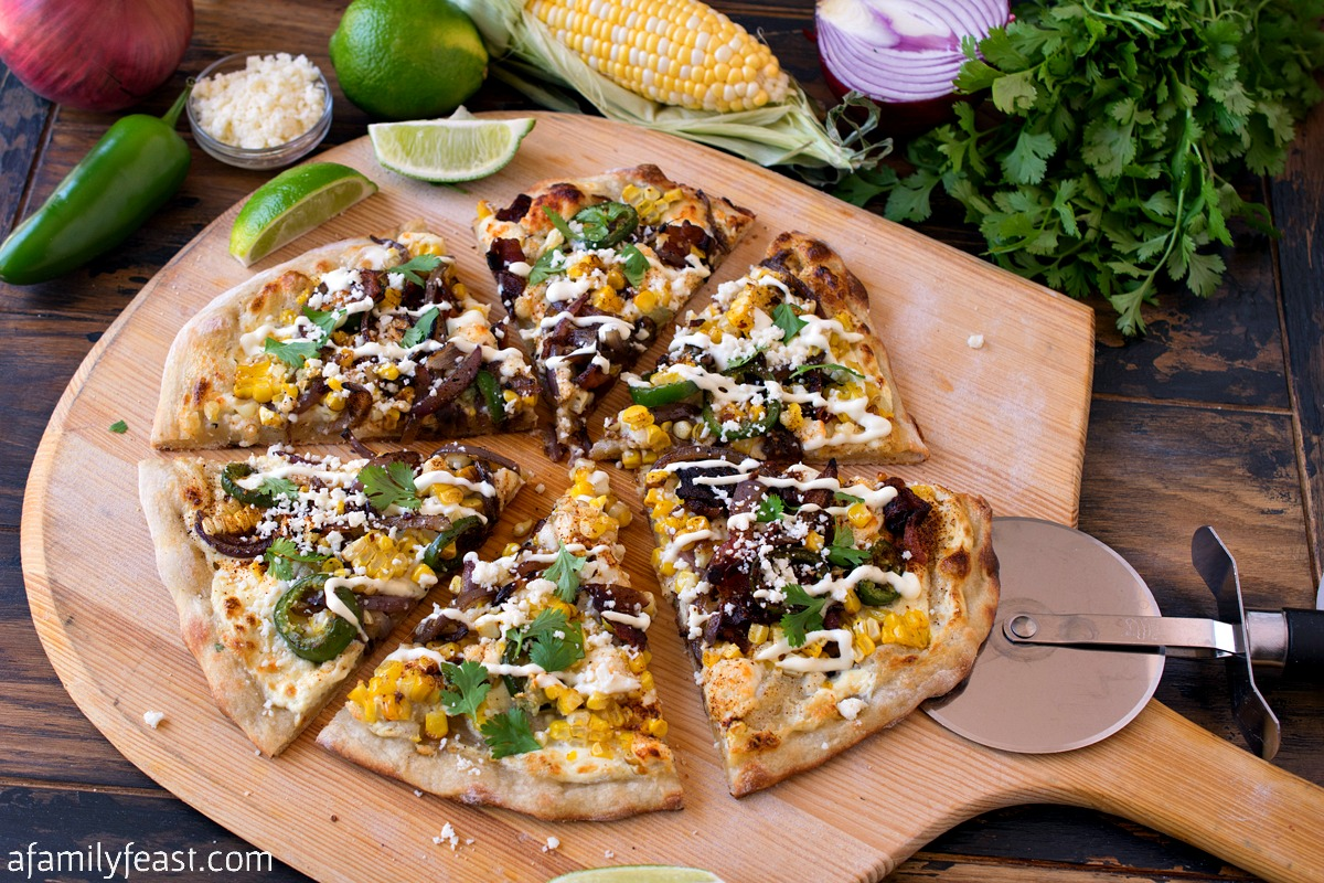 Mexican Street Corn Bacon Pizza