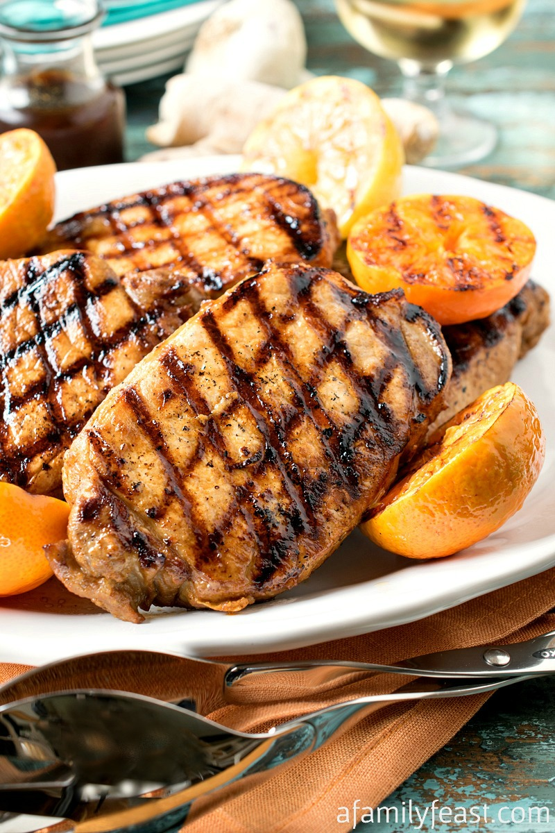 Ponzu Grilled Pork Chops