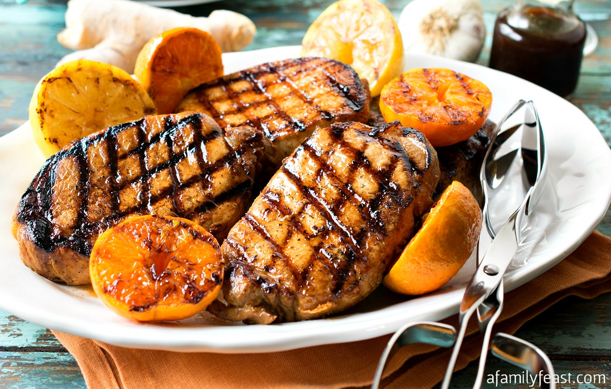 Ponzu Grilled Pork Chops recipe