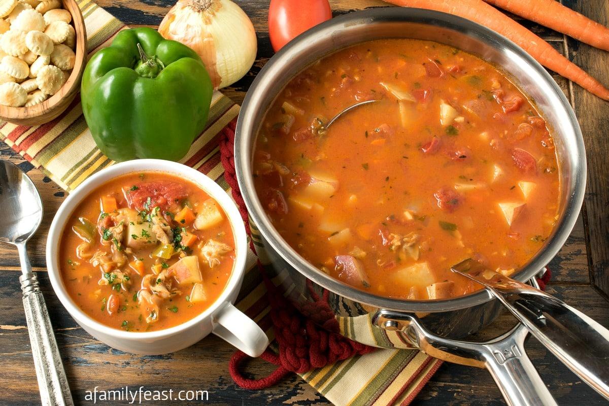 Manhattan Clam Chowder - A Family Feast