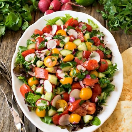 Persian Cucumber and Tomato Salad (Shirazi Salad)