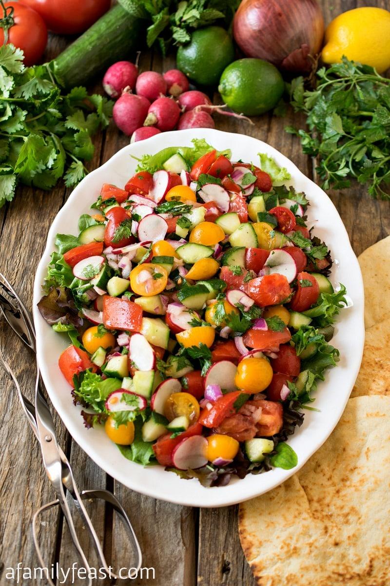 Persian Cucumber and Tomato Salad (Shirazi Salad)