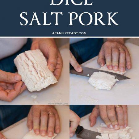How To Dice Salt Pork