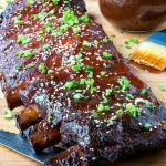 Sweet and Spicy Smoked Pork Ribs {plus a Traeger Grill giveaway}