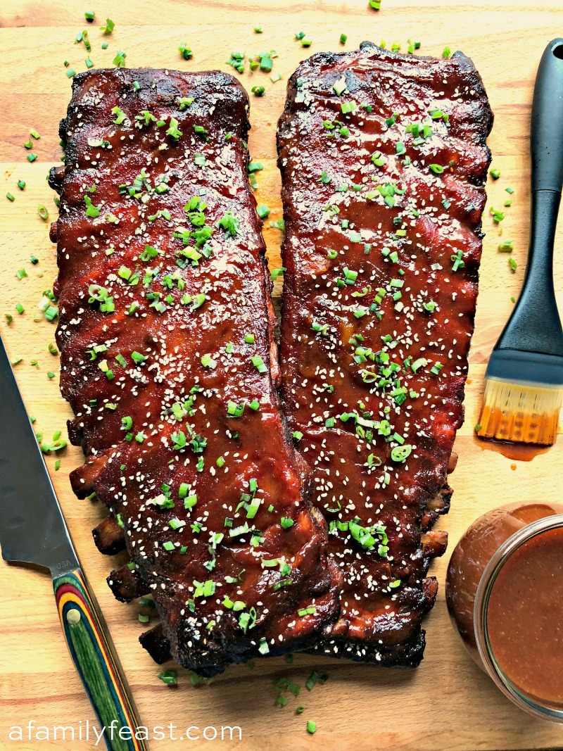 Sweet and Spicy Smoked Pork Ribs