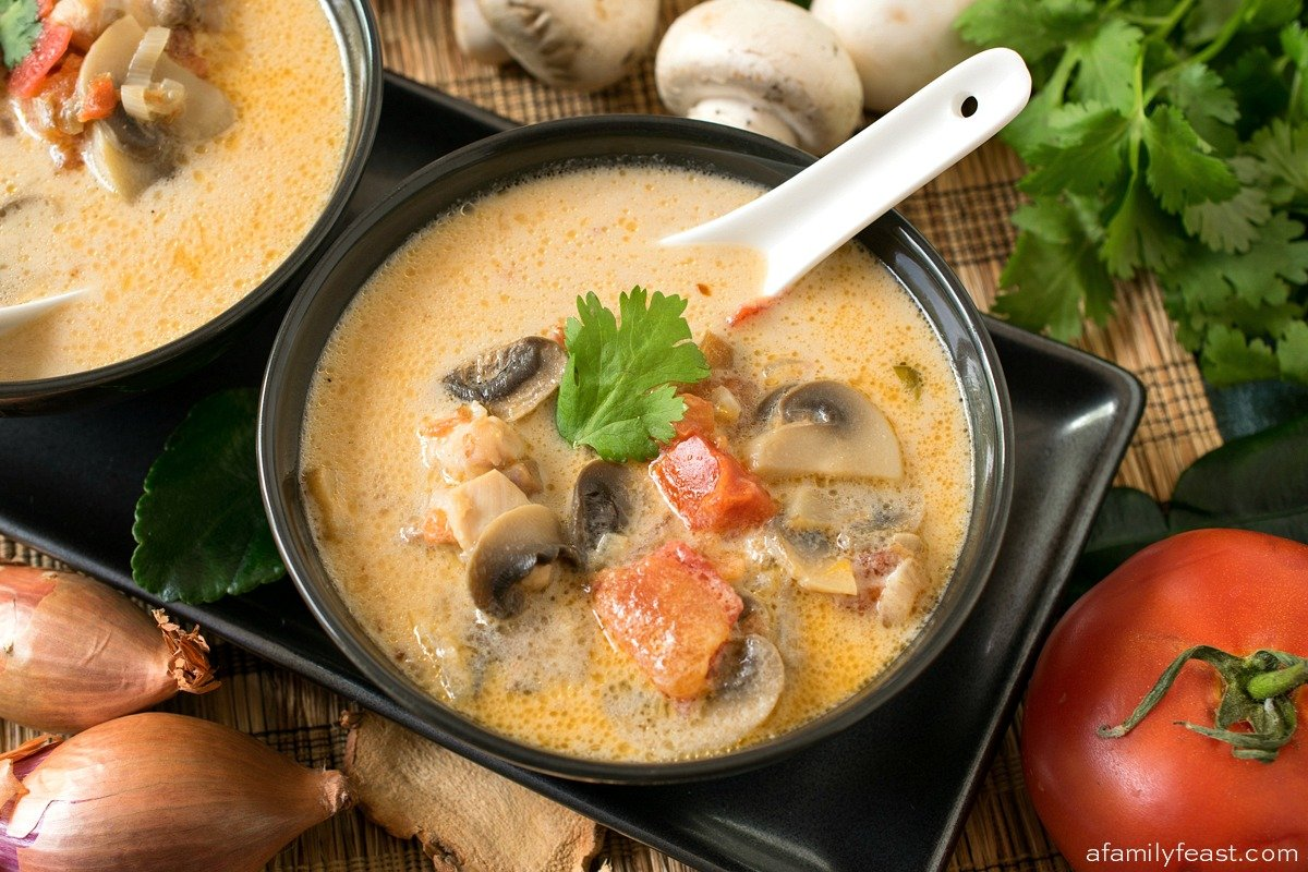Thai Coconut Chicken Soup - Tom Kah Gai