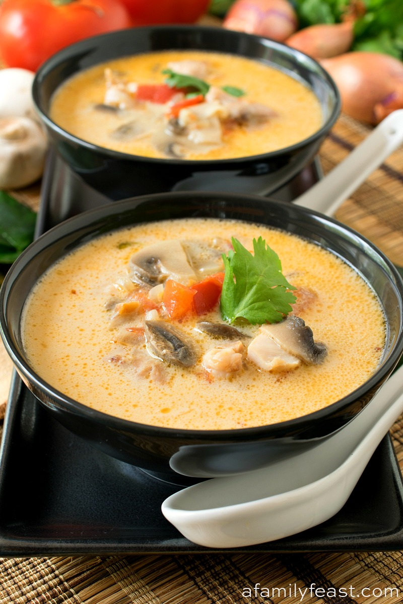 Thai Coconut Chicken Soup (Tom Kha Gai)