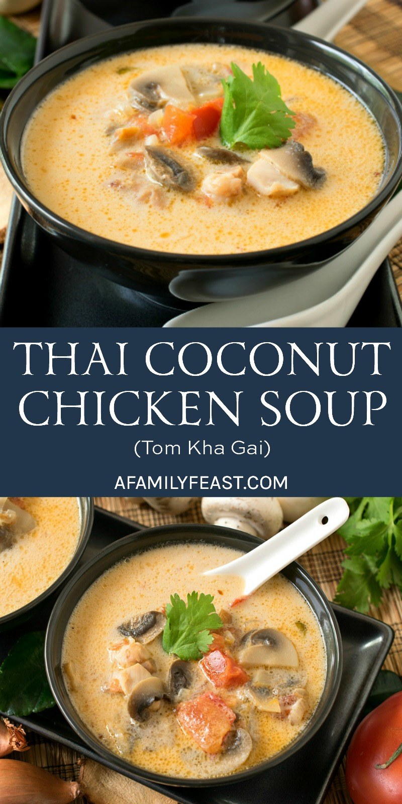 This Thai Coconut Chicken Soup (also known as Tom Kha Gai) is a classic Thai soup with a delicious and distinctive flavor.
