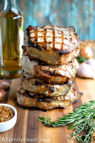 Grilled Porterhouse Pork Chops