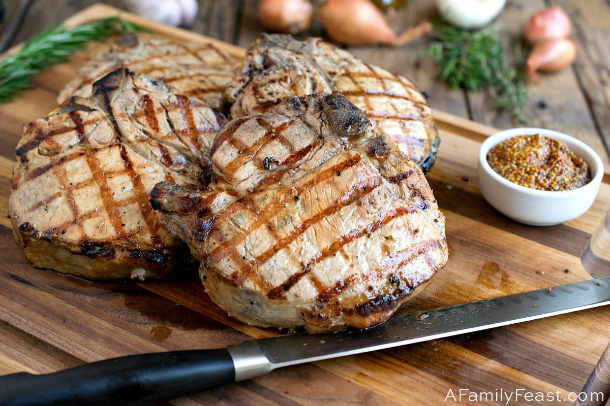 Grilled Porterhouse Pork Chops - A Family FeastGrilled Porterhouse Pork Chops