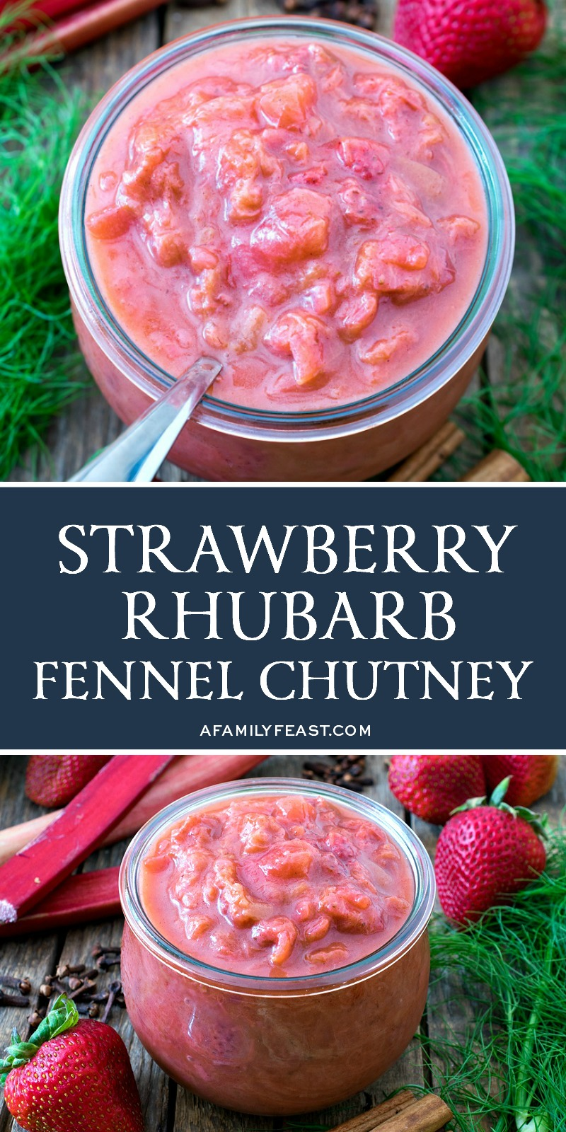 Strawberry Rhubarb Fennel Chutney