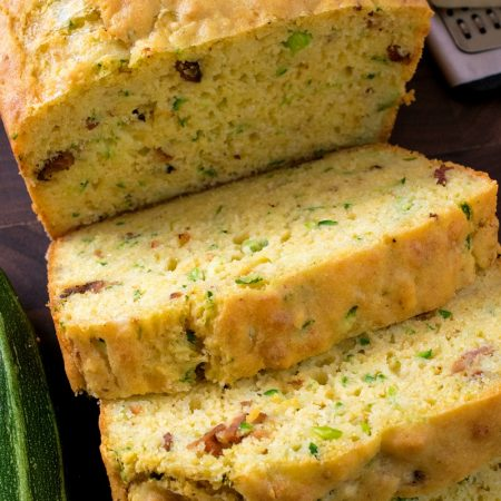 Cheesy Bacon Zucchini Bread