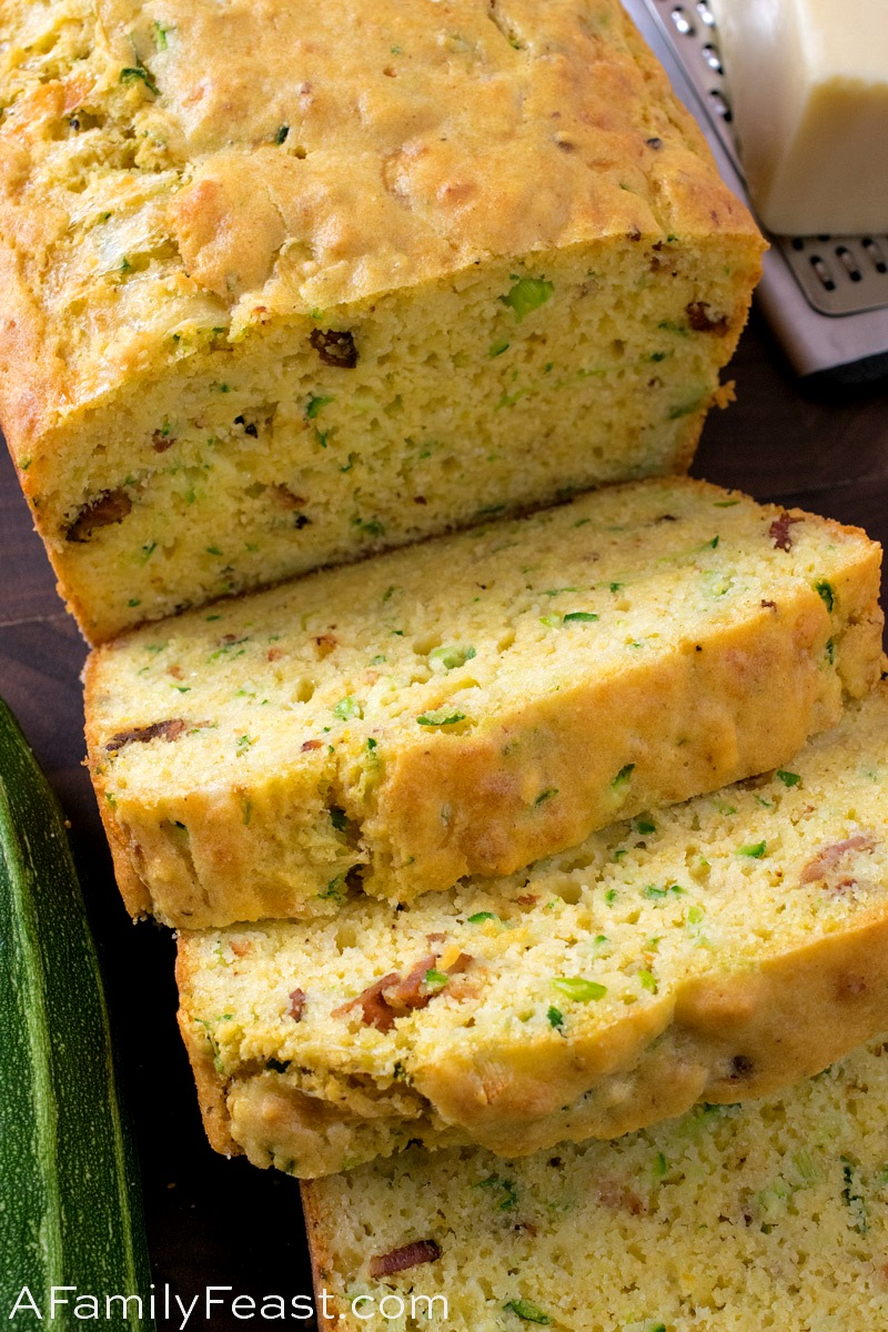 Cheesy Bacon Zucchini Bread