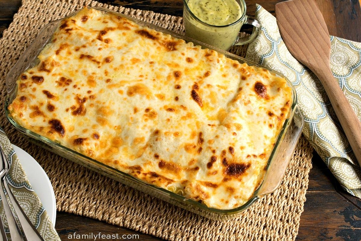 Chicken Lasagna with Pesto Cream Sauce