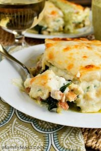 Chicken Lasagna with Pesto Cream Sauce - A Family Feast