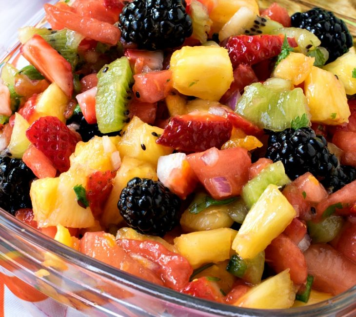 Fruit Salsa with Lime Tortilla Chips
