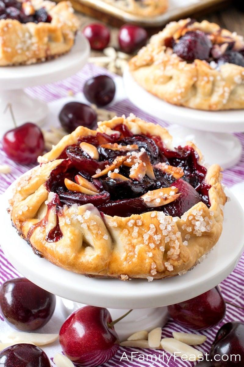 Mini Cherry Almond Galettes - A Family Feast
