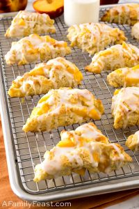 Peaches & Cream Scones - A Family Feast