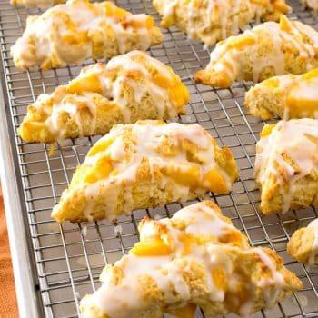 Peaches & Cream Scones - A Family Feast