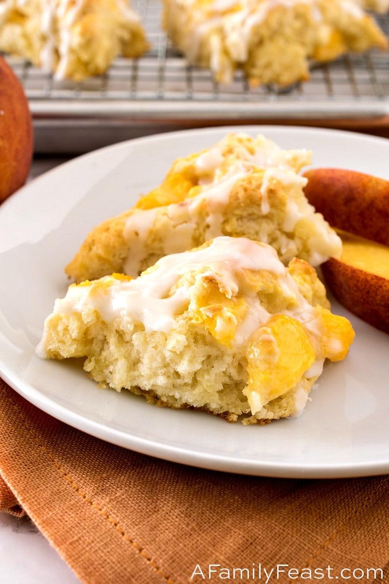 Peaches & Cream Scones