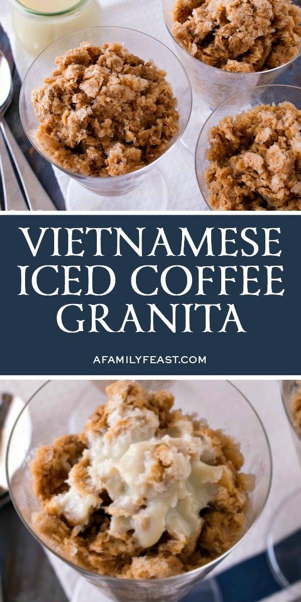 Vietnamese Iced Coffee Granita