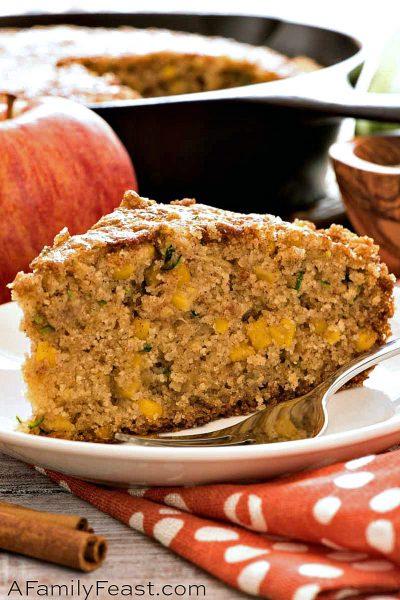 Apple Zucchini Corn Bread - A Family Feast
