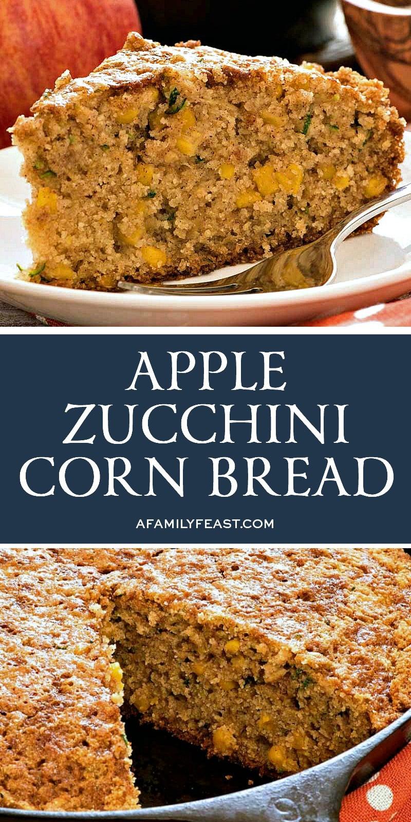 Apple Zucchini Corn Bread
