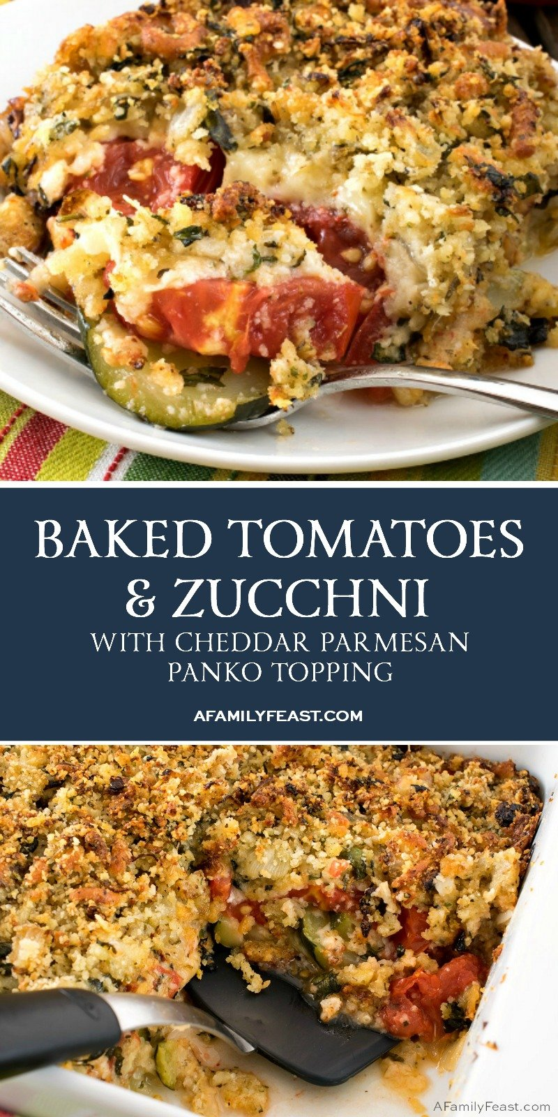 Baked Tomatoes and Zucchini with Cheesy Panko Topping