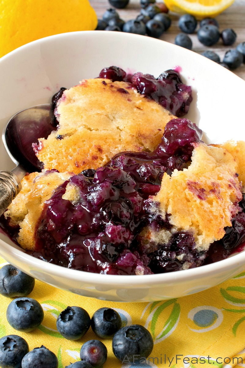 blueberry lemon pudding cake