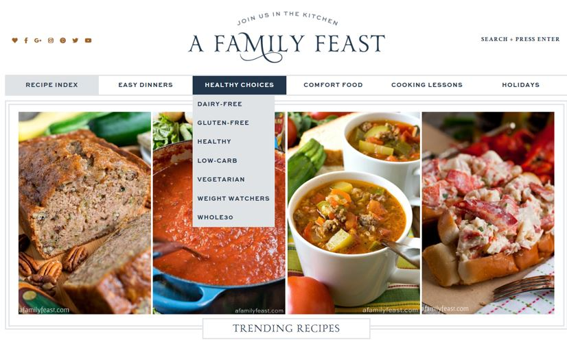 Home Page - A Family Feast