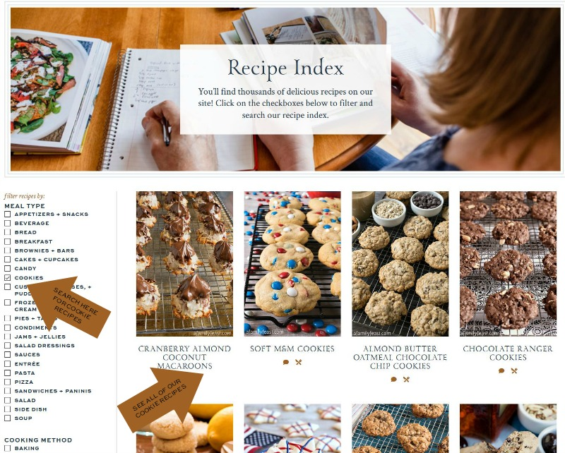 Recipe Index - A Family Feast
