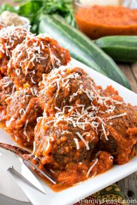 Zucchini Quinoa Meatless Meatballs