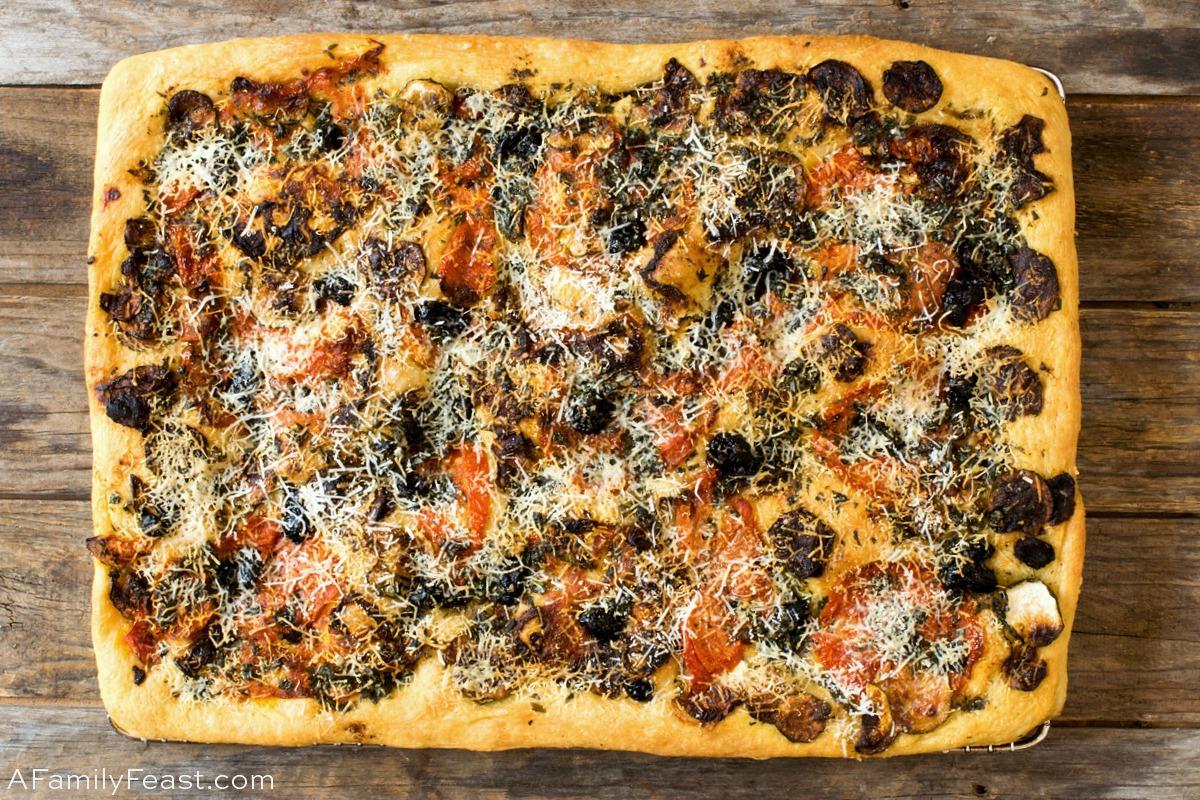 Tomato Zucchini Focaccia