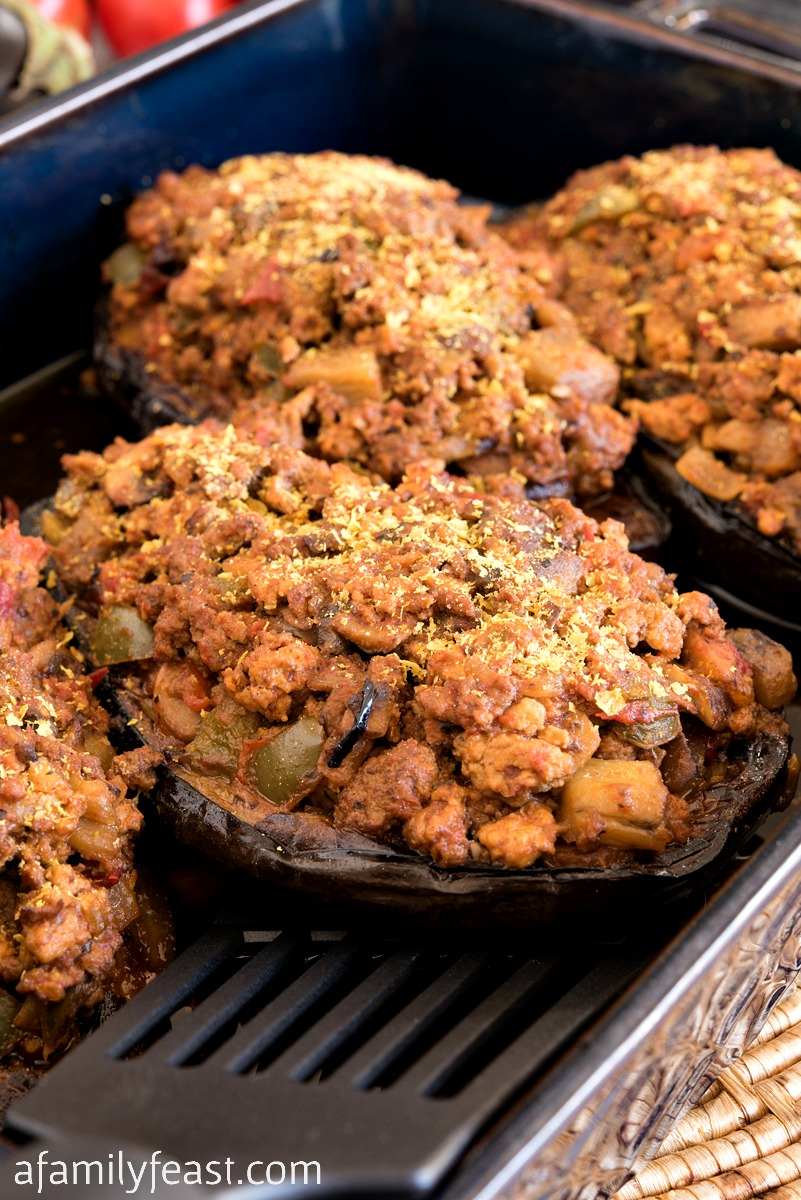 Whole30 Stuffed Eggplant