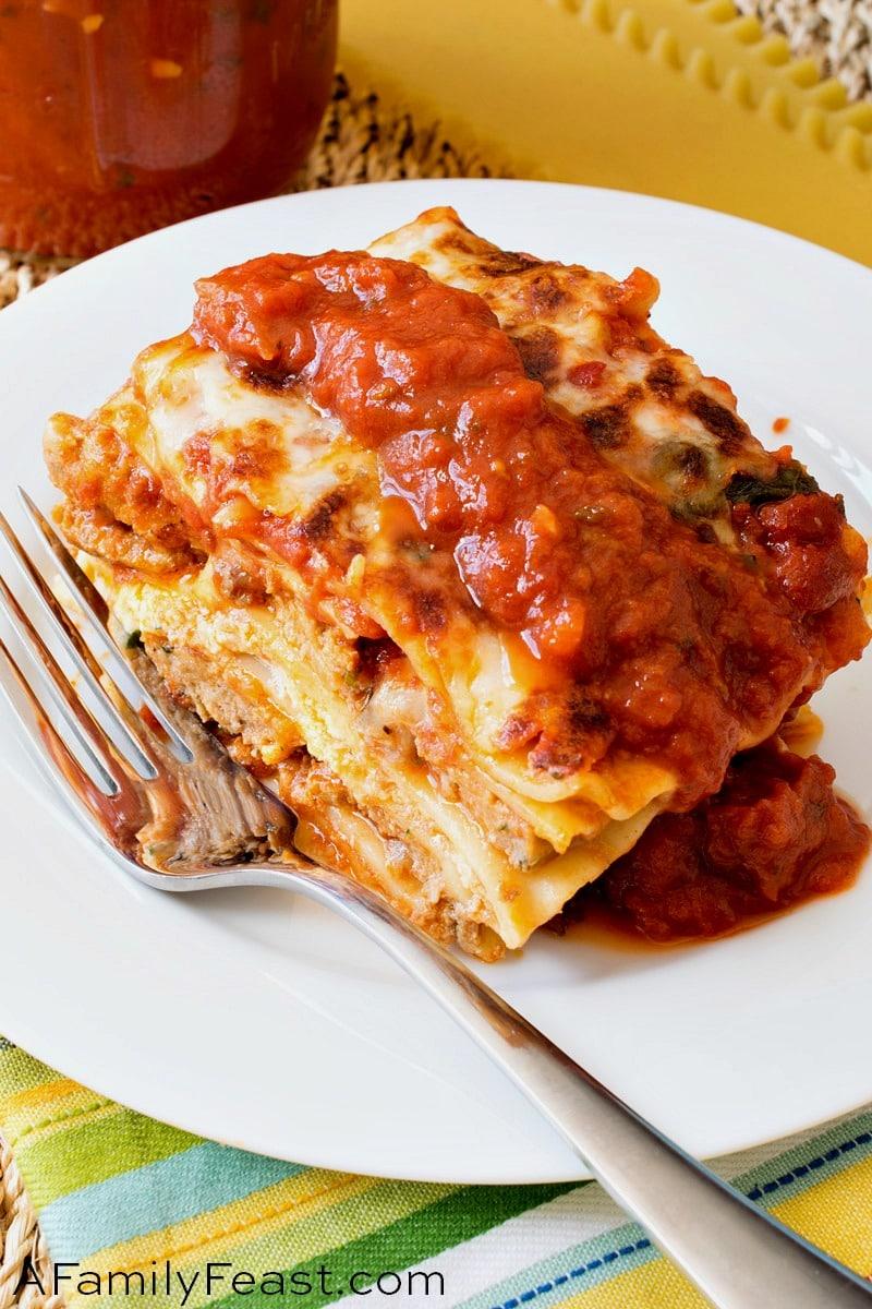 Meatball Lasagna - A Family Feast