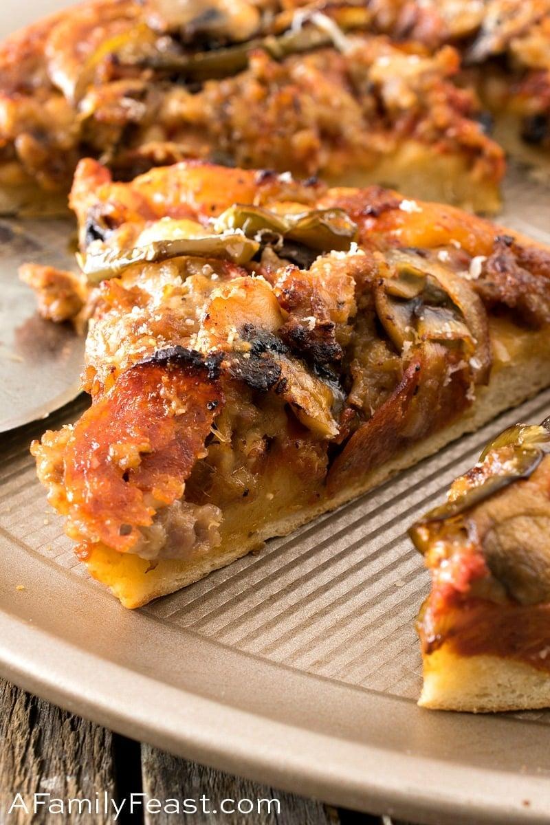 Upside-Down Deep-Dish Skillet Pizza