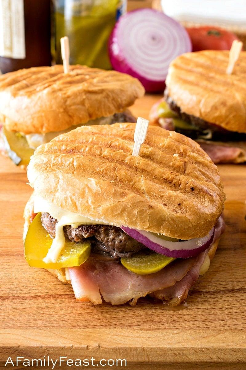 Cuban Panini Burger - A Family Feast