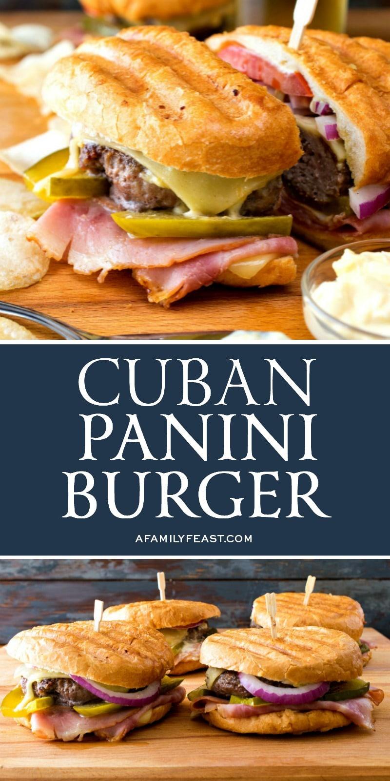 Cuban Panini Burger