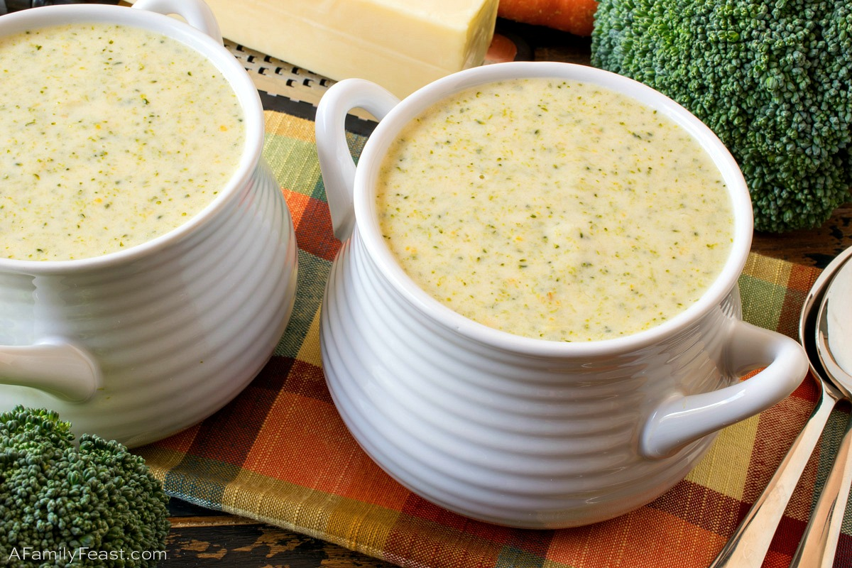 Broccoli Cheddar Soup - A Family Feast