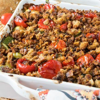 Chicken Zucchini Tomato Bake - A Family Feast
