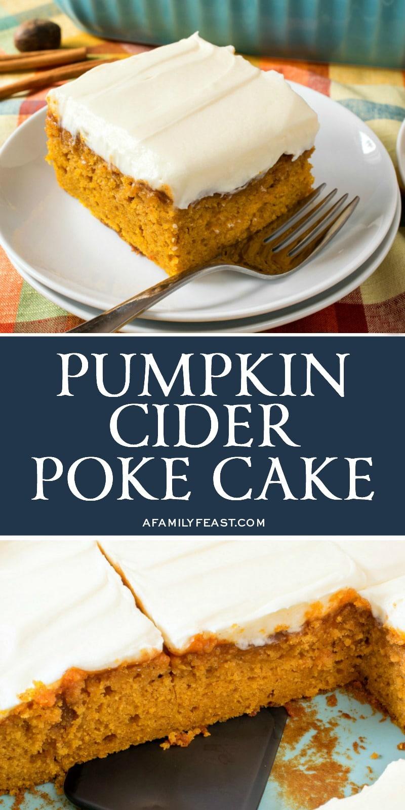 Pumpkin Cider Poke Cake