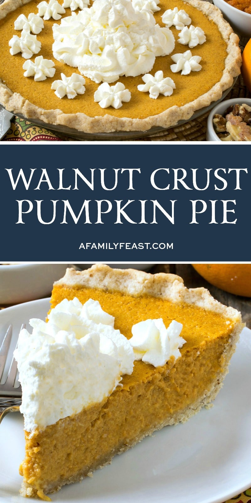 Walnut Crust Pumpkin Pie