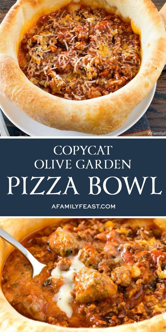 Copycat Olive Garden Pizza Bowl